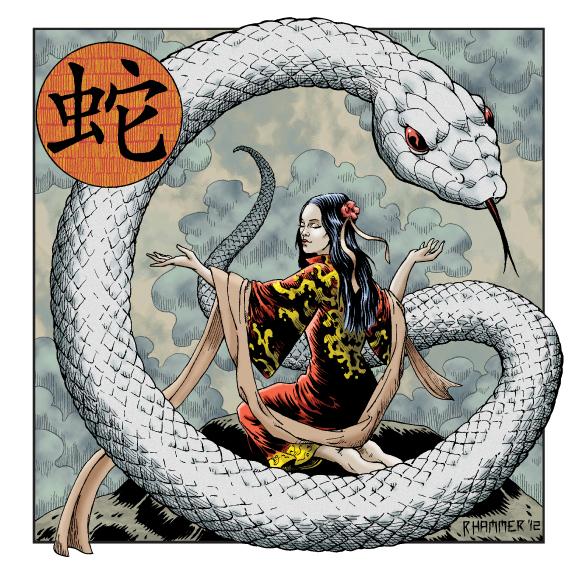 chinese art snake - photo #35